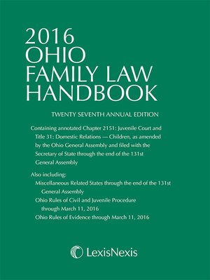 cover image of 2016 Ohio Family Law Handbook