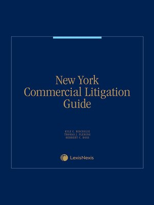 cover image of New York Commercial Litigation Guide