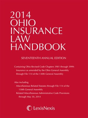 cover image of 2014 Ohio Insurance Law Handbook