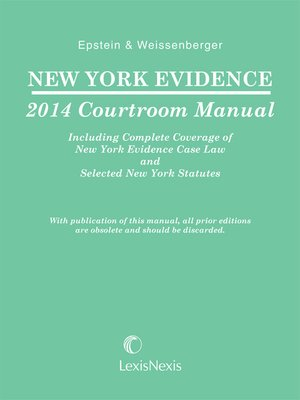 cover image of New York Evidence Courtroom Manual