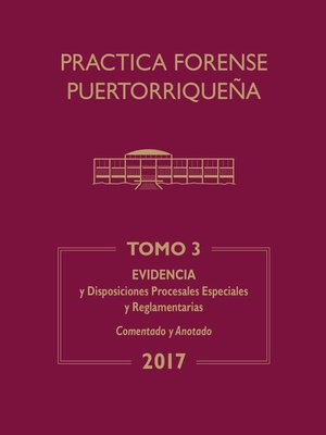 cover image of Práctica Forense Puertorriqueña