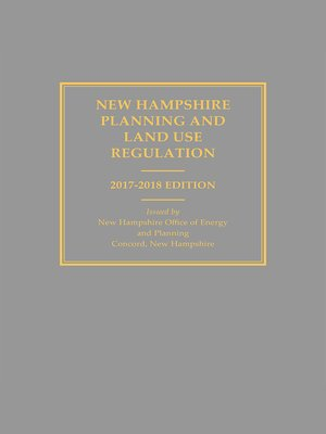 cover image of New Hampshire Planning and Land Use Regulations