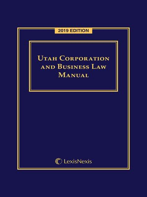 cover image of Utah Corporation and Business Law Manual