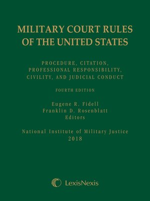 cover image of Military Court Rules of the United States