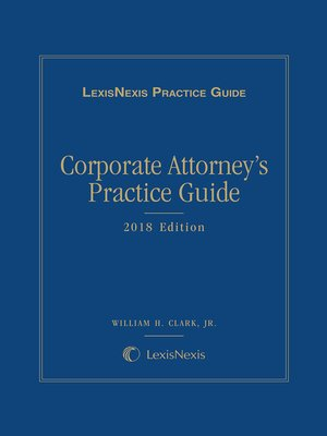 cover image of Corporate Attorney's Practice Guide