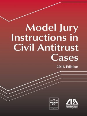 cover image of Model Jury Instructions in Civil Antitrust Cases
