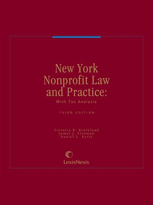 cover image of New York Nonprofit Law and Practice