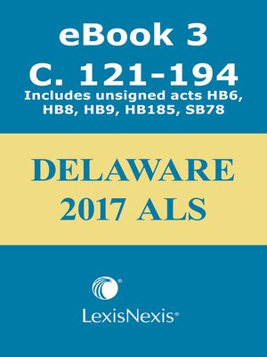 cover image of Delaware Advance Legislative Service