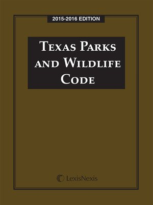 cover image of Texas Parks and Wildlife Code