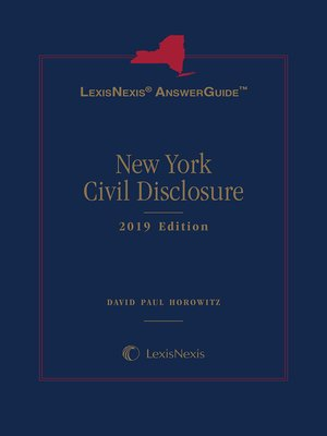 cover image of LexisNexis AnswerGuide New York Civil Disclosure
