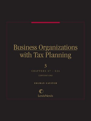 cover image of Business Organizations with Tax Planning