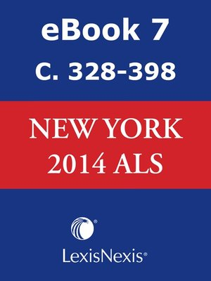 cover image of New York CLS Advance Legislative Service