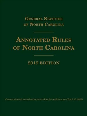 cover image of Annotated Rules of North Carolina