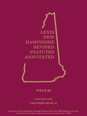 New Hampshire Revised Statutes Annotated by Publisher's