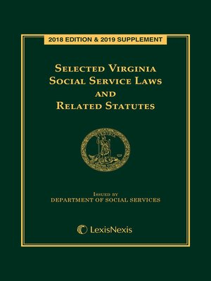 cover image of Selected Virginia Social Services Laws and Related Statutes