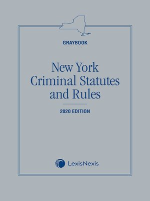 cover image of New York Criminal Statutes and Rules
