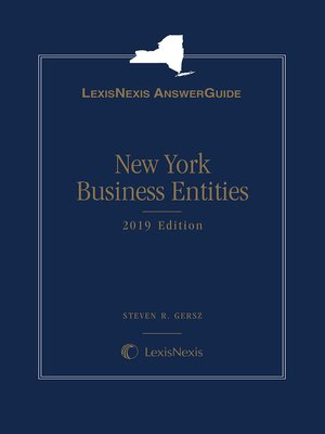 cover image of LexisNexis AnswerGuide New York Business Entities