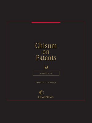 cover image of Chisum on Patents
