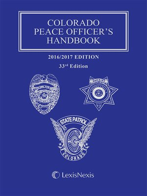 cover image of Colorado Peace Officer's Handbook