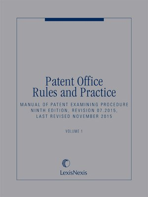cover image of Patent Office Rules and Practice: Manual of Patent Examining Procedure