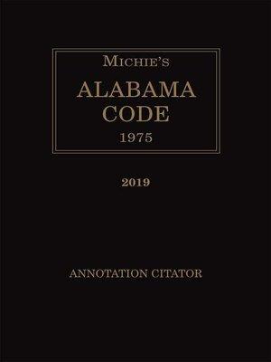 cover image of Michie's Alabama Citator