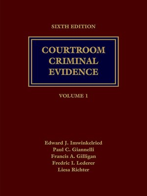 cover image of Courtroom Criminal Evidence