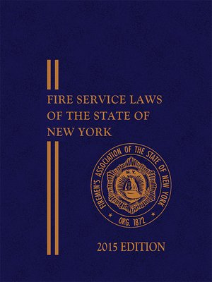 cover image of FASNY Fire Service Laws of the State of New York