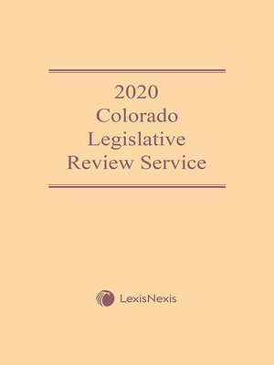 cover image of Colorado Legislative Review Service
