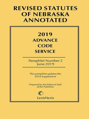 cover image of Nebraska Advance Code Service