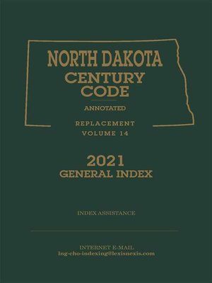 cover image of North Dakota Century Code Annotated