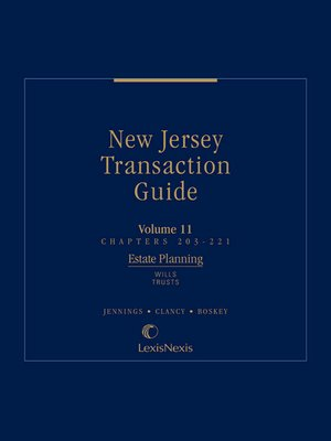 cover image of New Jersey Transaction Guide