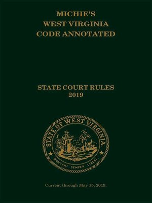 cover image of Michie's West Virginia Code Annotated
