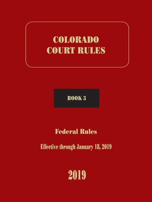 cover image of Colorado Court Rules