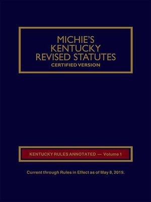 cover image of Michie's Kentucky Court Rules Annotated