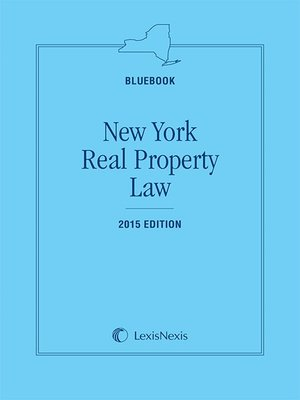 cover image of New York Real Property Law (Bluebook)