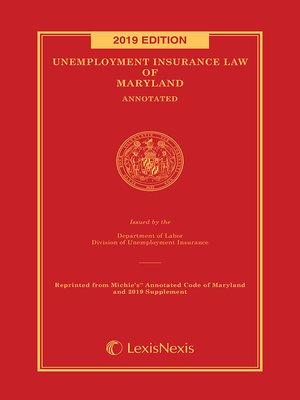 cover image of Unemployment Insurance Law of Maryland Annotated