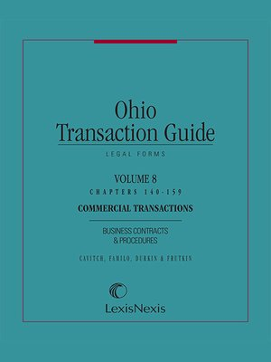 cover image of Ohio Transaction Guide--Legal Forms