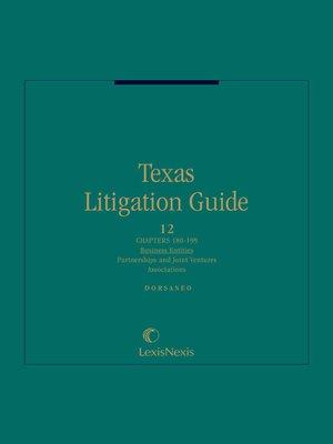cover image of Dorsaneo, Texas Litigation Guide