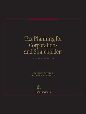 cover image of Tax Planning for Corporations and Shareholders