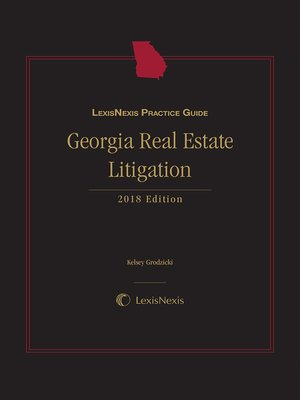 cover image of LexisNexis Practice Guide: Georgia Real Estate Litigation