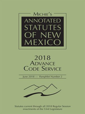 cover image of Michie's Annotated Statutes of New Mexico
