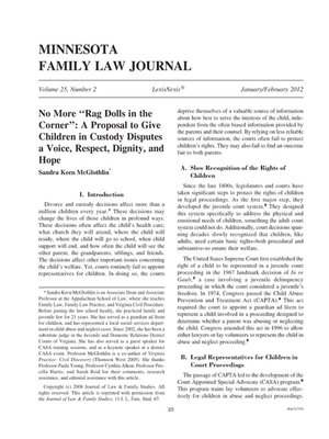cover image of Minnesota Family Law Journal