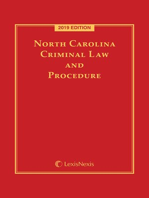 cover image of North Carolina Criminal Law and Procedure