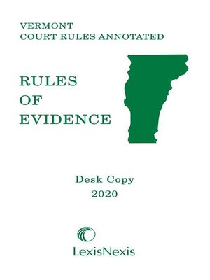 cover image of Vermont Rules of Evidence
