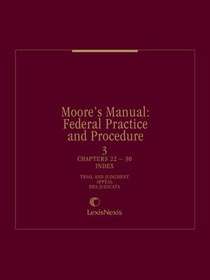 cover image of Moore's Manual: Federal Practice and Procedure