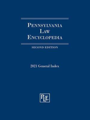 cover image of Pennsylvania Law Encyclopedia