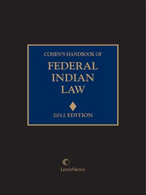 cover image of Cohen's Handbook of Federal Indian Law