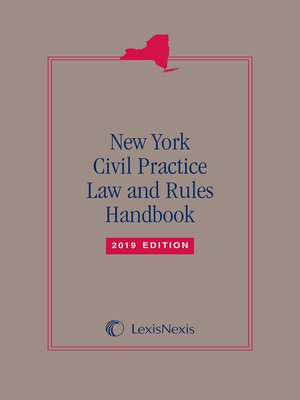 cover image of New York Civil Practice Law and Rules Handbook