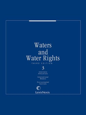 cover image of Waters and Water Rights