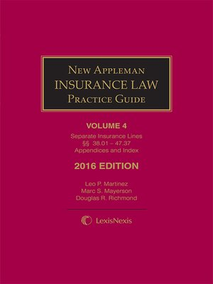 cover image of New Appleman Insurance Law Practice Guide